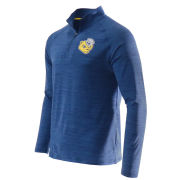 Valiant University of Michigan Heather Navy College Vault Wolverine Training 1/4 Zip Pullover