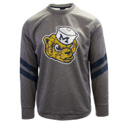 Valiant University of Michigan Heather Gray College Vault Wolverine Tech Fleece Crewneck Sweatshirt