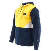 Valiant University of Michigan Color Block 1/4 Zip Hooded Sweatshirt