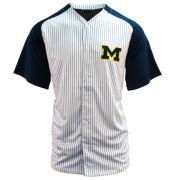 Valiant University of Michigan Baseball White Pin Stripe Replica Jersey