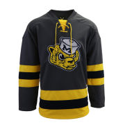 Valiant University of Michigan Hockey Gray College Vault Wolverine Lace-Up Jersey