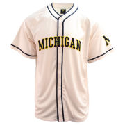 Valiant University of Michigan Baseball Off-White Throwback Replica Jersey
