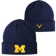 Valiant University of Michigan Navy Basic Cuffed Knit Hat