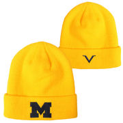 Valiant University of Michigan Yellow Basic Cuffed Knit Hat
