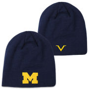 Valiant University of Michigan Navy Basic Knit Skully Hat