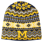 Valiant University of Michigan Snowflake Knit Beanie Hat