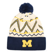 Valiant University of Michigan Fan Gear Cuffed Pom Knit Hat