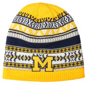 Valiant University of Michigan Pattern Knit Beanie Hat