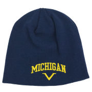 Valiant University of Michigan Navy Arched Knit Beanie Hat