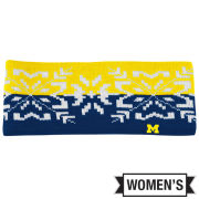 Valiant University of Michigan Women's Snowflake Knit Headband