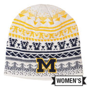 Valiant University of Michigan Women's White Knit Beanie Hat