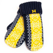 Valiant University of Michigan Women's Jacquard Snowflake Mittens