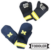 Outerstuff University of Michigan Toddler Navy ''Go Blue'' Mittens