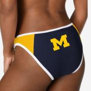 Valiant University of Michigan Women's Navy/Yellow Bikini Bottom