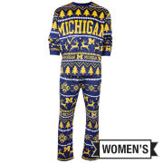 Valiant University of Michigan Women's Holiday Pajama Two-Piece Set