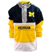 Valiant University of Michigan Women's Multi-Color Anorak Pullover Jacket