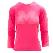 Valiant University of Michigan Women's Pink Long Sleeve Stretch Tech Performance Tee