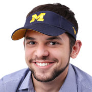 Valiant University of Michigan Navy Basic Visor