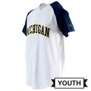 Valiant University of Michigan Baseball Youth White Jersey