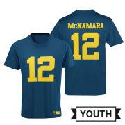 Valiant Cade McNamara Youth Navy Player Jersey Tee