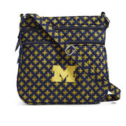 Vera Bradley University of Michigan Triple Zip Hipster Crossbody Bag