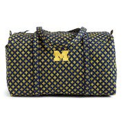 Vera Bradley University of Michigan Large Duffel Travel Bag