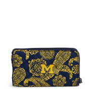 Vera Bradley University of Michigan Iconic RFID Front Zip Wristlet