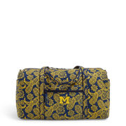 Vera Bradley University of Michigan Iconic Large Duffel Travel Bag
