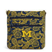 Vera Bradley University of Michigan Iconic Triple Zip Crossbody Hipster Bag