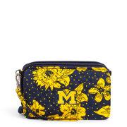 Vera Bradley University of Michigan Rain Garden RFID All-In-One Crossbody Bag