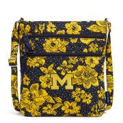 Vera Bradley University of Michigan Rain Garden Triple Zip Hipster Crossbody Bag