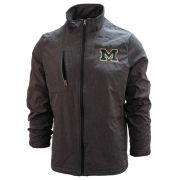 Crable University of Michigan Steel Gray Bonded Full-Zip Jacket
