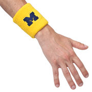 Valiant University of Michigan Yellow Block M Wristband
