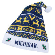 Valiant University of Michigan Holiday Santa Hat