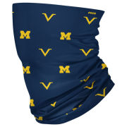 Valiant Brand University of Michigan Scattered Block ''M'' Logo Gaiter Scarf