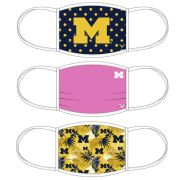 Valiant University of Michigan Fashion Design Face Covers [3 Pack]