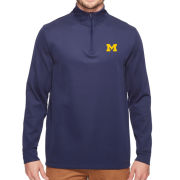 Vineyard Vines University of Michigan Navy Buff Bay Performance 1/4 Zip Pullover