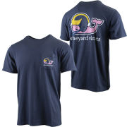 Vineyard Vines University of Michigan Football Navy ''Football Whale'' Tee