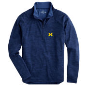 Vineyard Vines University of Michigan Navy Sankaty Performance 1/2 Zip Pullover