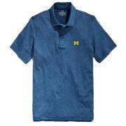 Vineyard Vines University of Michigan Blue Depth Destin Stripe Sankaty Polo