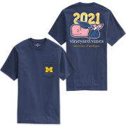 Vineyard Vines University of Michigan Class of 2021 Navy Whale Pocket Tee