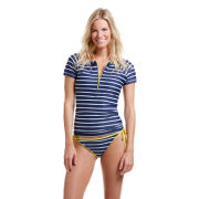 Vineyard Vines University of Michigan Women's Nautical Stripe Swim Shirt