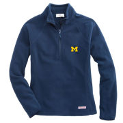 Vinyard Vines University of Michigan Women's Navy Gondola 1/4 Zip Fleece Pullover