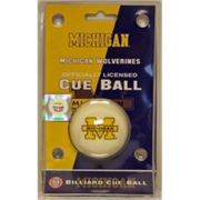 Wave 7 University of Michigan Pool Cue Ball