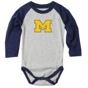 Wes & Willy University of Michigan Infant Long Sleeve Onesie