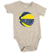 Wes & Willy University of Michigan Basketball Infant Gray Onesie Bodysuit