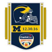 WinCraft University of Michigan Football Orange Bowl Lapel Pin