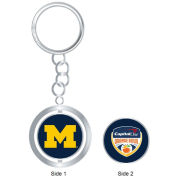 WinCraft University of Michigan Football Orange Bowl Spinner Keychain