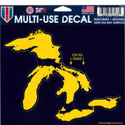 WinCraft University of Michigan Yellow Great Lakes with Navy Outline Decal