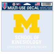 WinCraft University of Michigan School of Kinesiology Decal